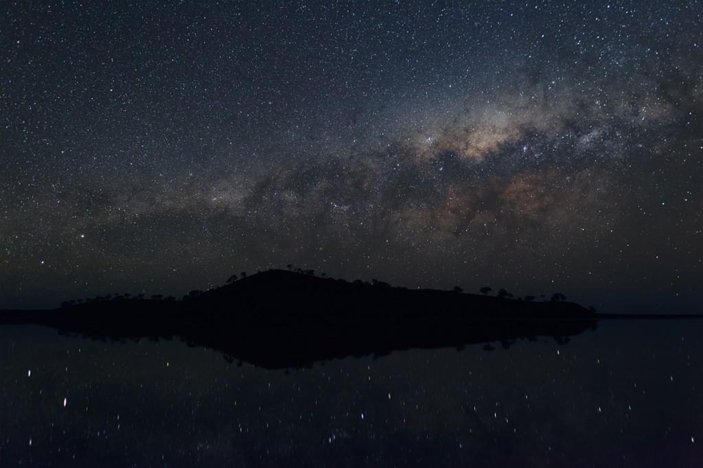 lake ballard island sky