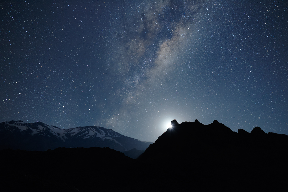 maipo valley milky way at night